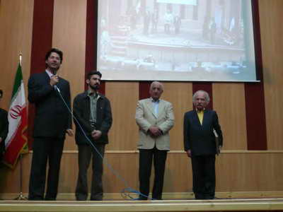 همایش هفته معماری - دانشگاه آزاد تبریز - دکتر فلامکی - دکتر وزیری - مهندس جمالی - دکتر ستارزاده