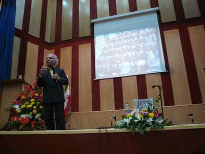 همایش هفته معماری - دانشگاه آزاد تبریز - دکتر فلامکی