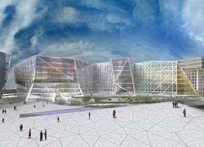 معمار و معماری - یو ان استودیو - بن وان برکل - ساختمان اداری Buttersea wave
