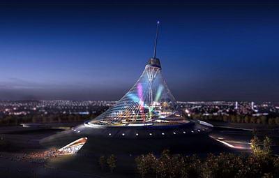 معجزه پلی مر برای هزاره جدید - ETFE - مرکز تفریحی khan shatyry - نورمن فاستر