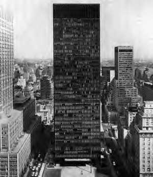 سیر تحول فضا در معماری - برج سیگرام