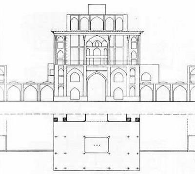 عمارت عالی قاپو - دوره صفوی