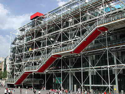 معماری و فضای نمایشگاهی - مرکز پمپیدو