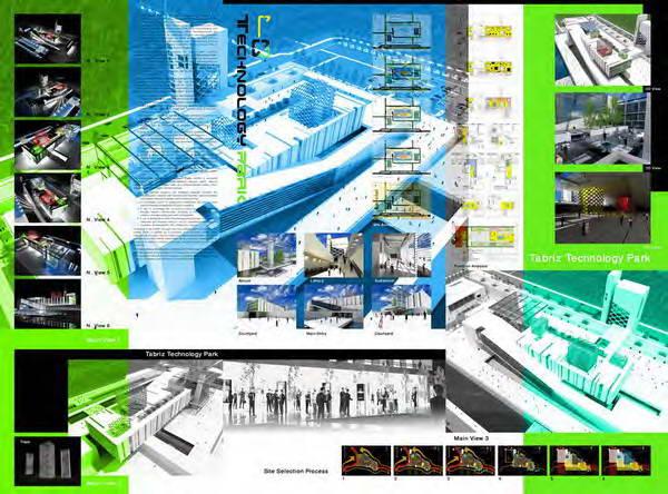 سیزدهمین دوره پایان نامه سال جهاد دانشگاهی - گروه هنر و معماری - طراحی پارک تکنولوژی تبریز