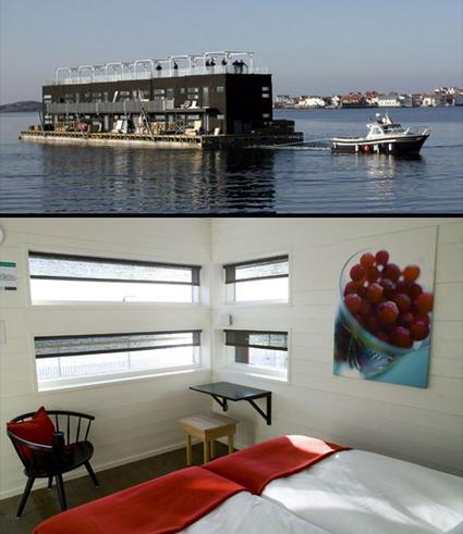 هتل های شگفت انگیز جهان - هتل شناور سوئد