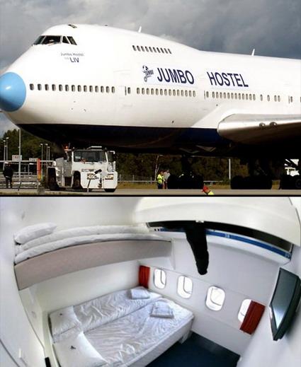 هتل های شگفت انگیز جهان - هتل هواپیما در سوئد