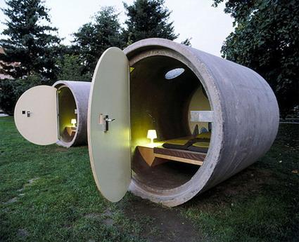 هتل های شگفت انگیز جهان - هتل لوله زه کشی در هلند