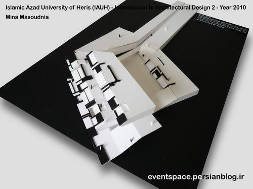 دانشگاه آزاد هریس - مقدمات طراحی معماری 2 - طراحی یک رستوران شهری - مینا مسعودنیا