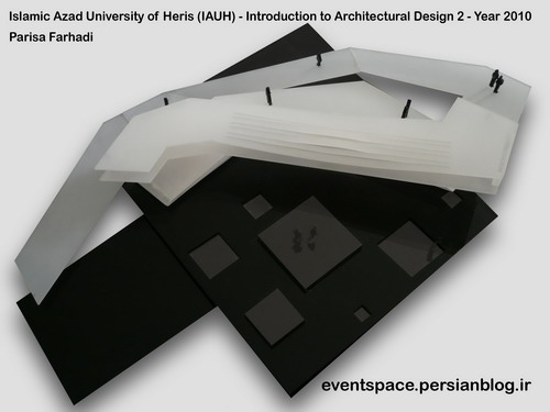 دانشگاه آزاد هریس - مقدمات طراحی معماری 2 - طراحی یک رستوران شهری - پریسا فرهادی