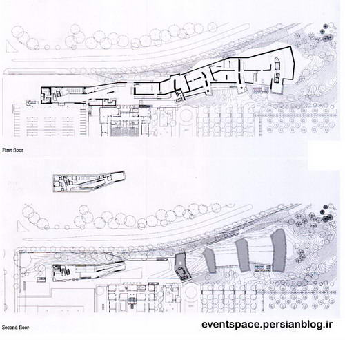 اسکیس های معماری - steven holl - expansion of the nelson atkins museum