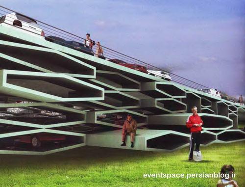 ایده و کانسپت - یک پارکینگ شهری - Parking Building Nuovo Salario