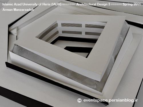 دانشگاه آزاد هریس - طرح معماری 3 - طراحی یک موزه هنر – آرمان منظرزاده