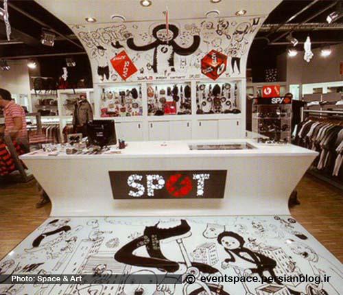 گرافیک محیطی در یک فروشگاه - Environmental Graphic at Spot Shop