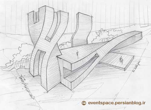 اسکیس های معماری - اسکیس های علی صالحی پور - Architectural Sketches