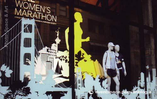 گرافیک محیطی در فروشگاه ورزشی نایک - Environmental Graphic at Nike Sport Shop