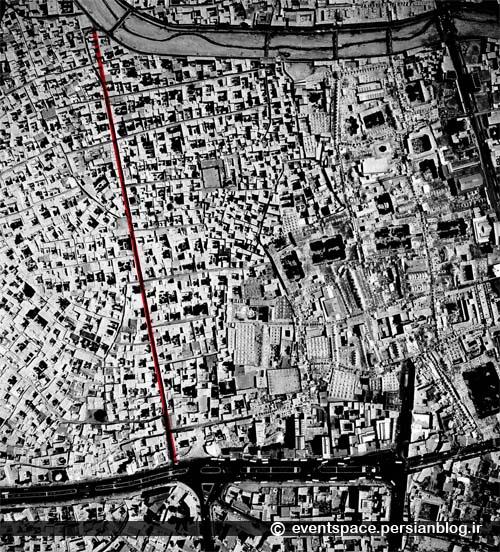 راسته کوچه؛ خاطرهای از یک کوچه کانسپچوال - عکس هوایی سال 1354