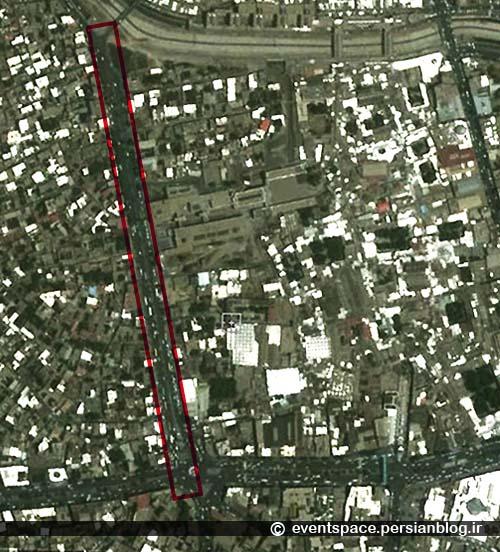 راسته کوچه؛ خاطرهای از یک کوچه کانسپچوال - تصویر ماهواره ای سال 1382